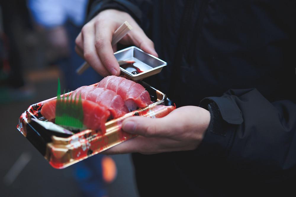Japan - Tokyo - Sakura City - Sushi Seafood Sashimi Salmon Raw