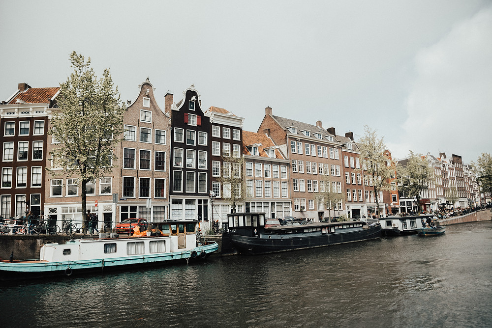 Amsterdam City - Netherlands - Canal Cruise Boat River Stream