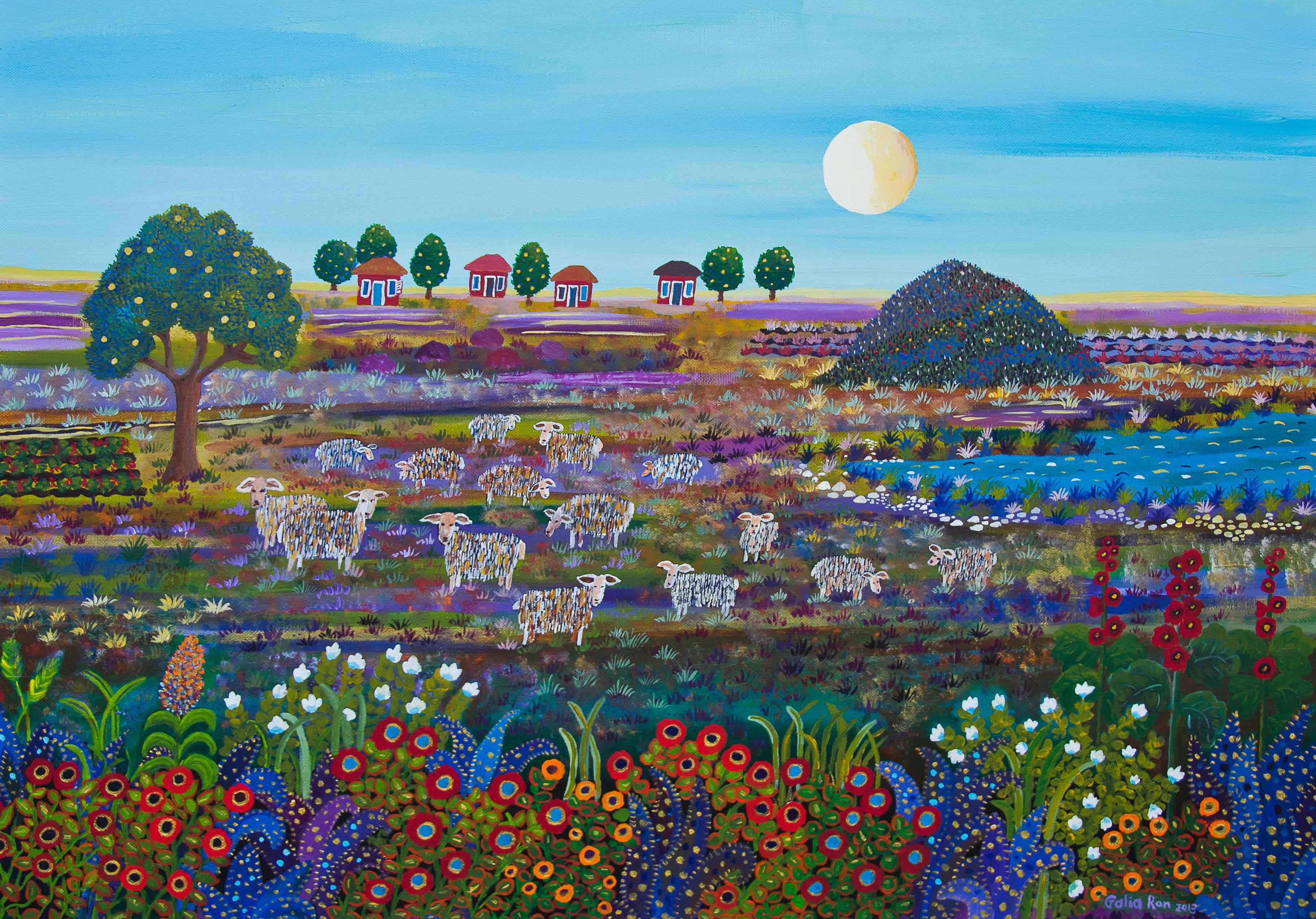 כבשים רועות באחו