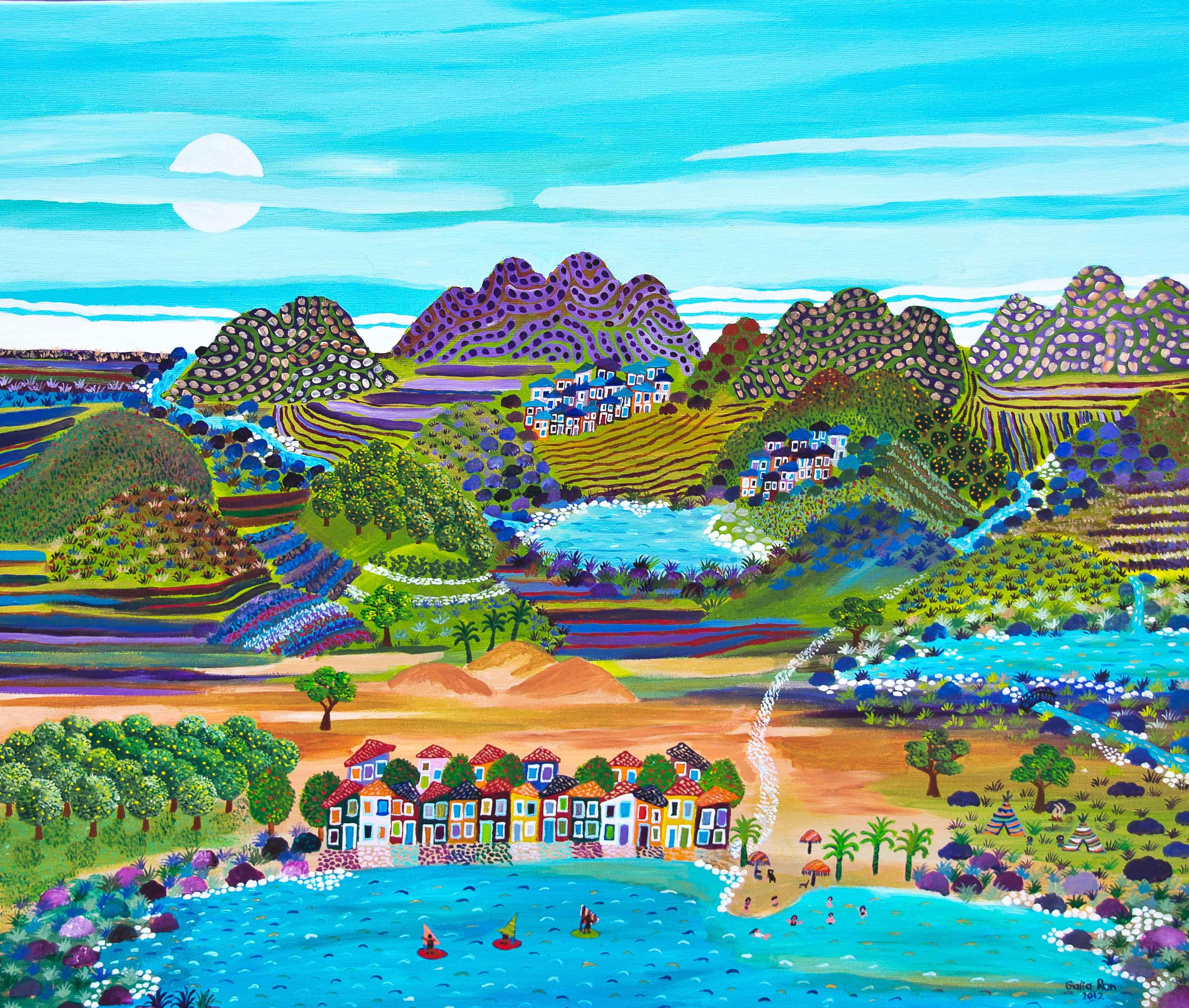 כפר נופש ואוהלים לצד האגם