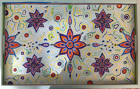 Hand painted tray