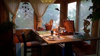 My drawing table at home