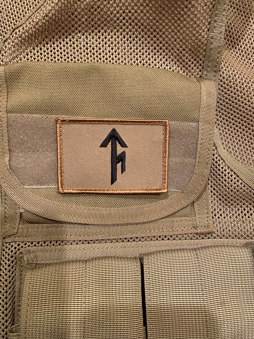 Tribe Bindrune Patch - Coyote Brown/Desert with Black - Velcro type
