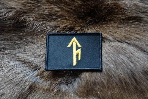 Tribe Bindrune Patch - Black - Velcro type