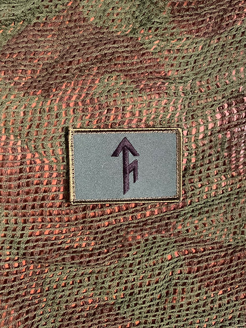 Tribe Bindrune Patch - Ranger Green with Black -Velcro type