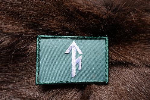 Tribe Bindrune Patch in OCP Green - Velcro type