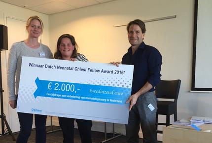 Winner Dutch Neonatal Chiesi Fellow Award 2016