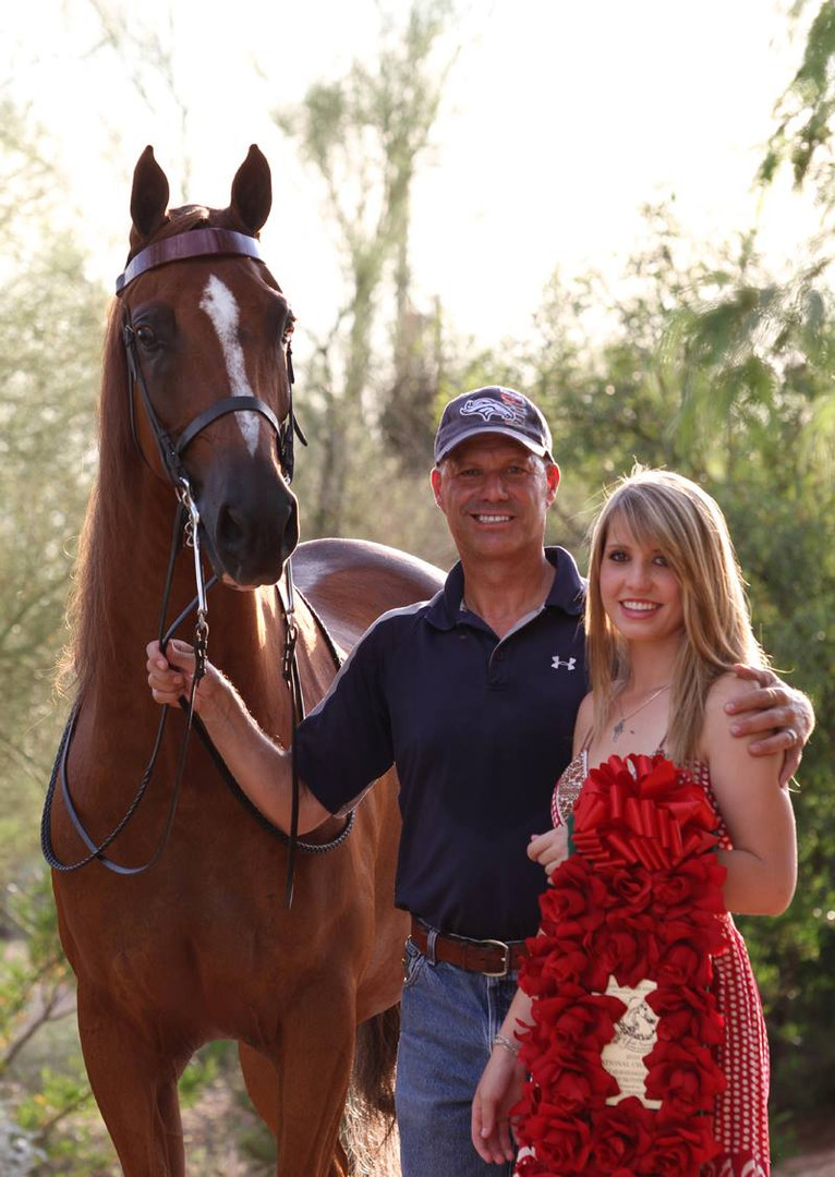Mitch Sperte and his daughter, Lesta with National Champion Fire One