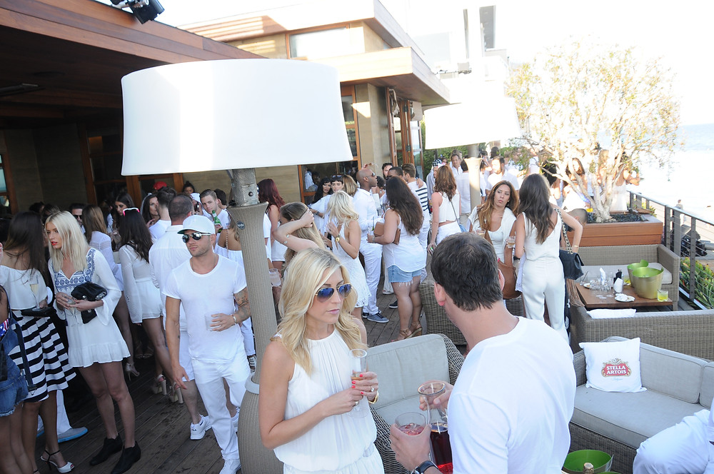 White Party, event lighting and sound in Malibu