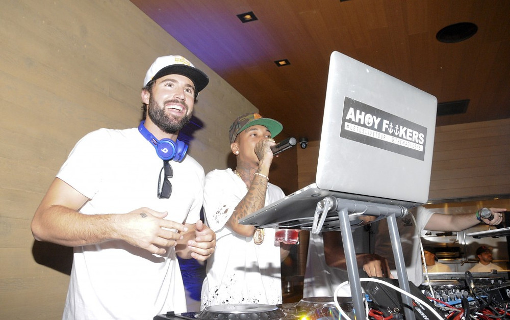 DJ Brody Jenner playing on our sound system with live performance by Tyga
