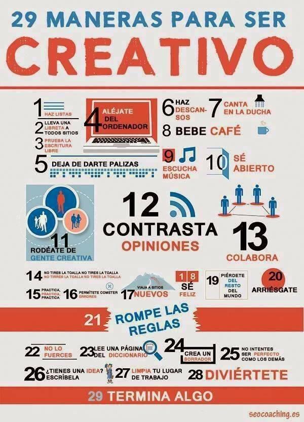 Maneras para Ser Creativo
