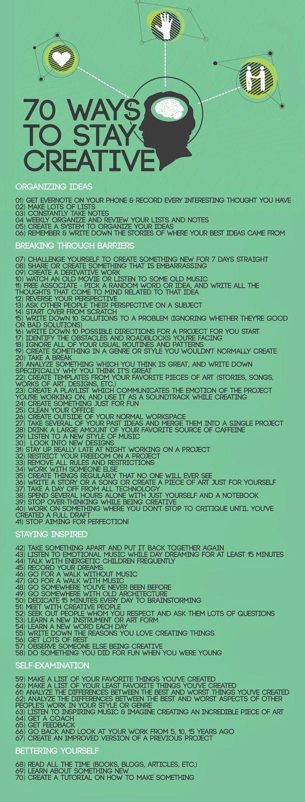 70 Formas de Ser Creativo