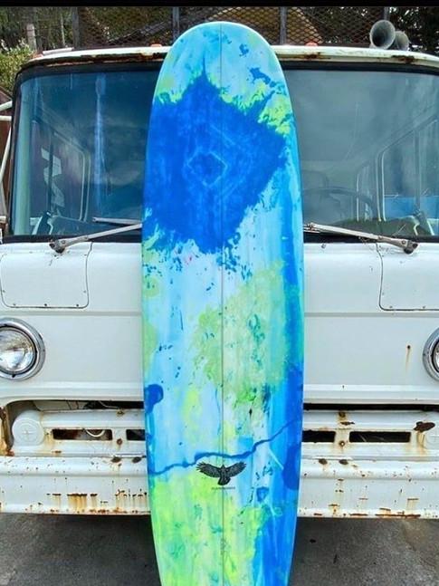 8'0 Tie-Dye Resin Art Longboard