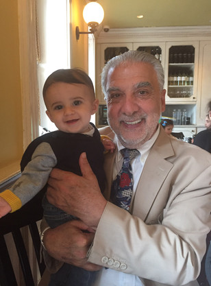 Enjoying an afternoon with Anthony, one of Jerry's grandchildren