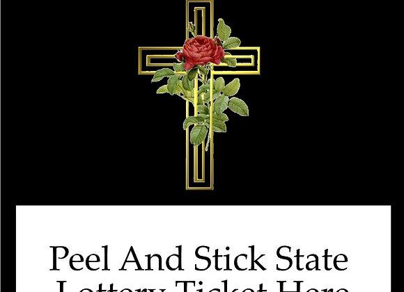 Religious gold rose cross