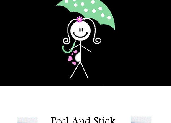 Baby Shower green umbrella