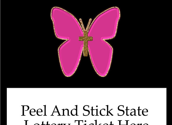 Religious pink butterfly