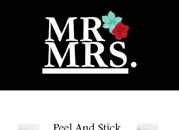 Wedding Mr./Mrs. tropical flower