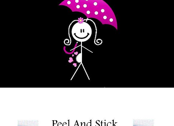 Baby Shower pink umbrella