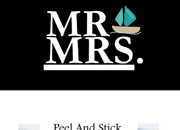Wedding mr./mrs. sailboat