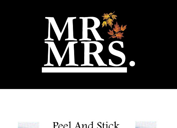 Wedding mr./mrs.leaves