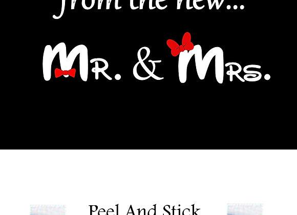 Wedding mr./mrs. mickey/minnie