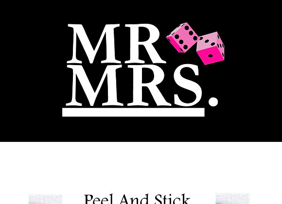 Wedding Mr./Mrs. pink dice