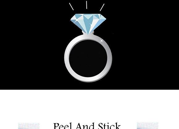 Bridal Shower ring/blue