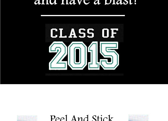 Class of 2015 green and white