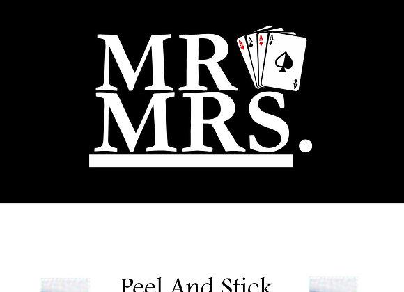 Wedding mr./mrs. playing cards