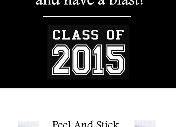 Class of 2015 black and white