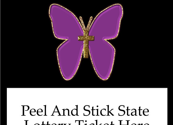 Religious purple butterfly