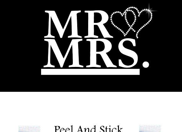Wedding mr./mrs. diamond hearts