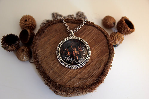 "Photo Pendant Necklace ""The gathering"""