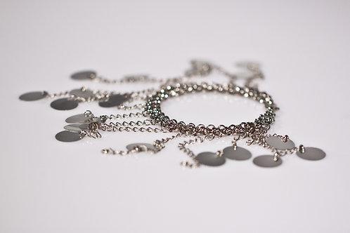 Sequins Fringe Silver Bracelet | impulsiva Jewelry