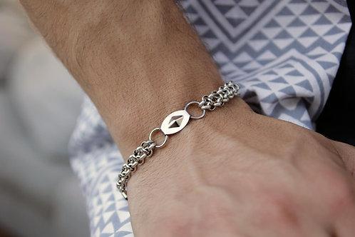 Geometric chain bracelet