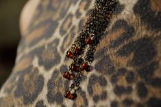 Multi-Strand Drop Brass Necklace