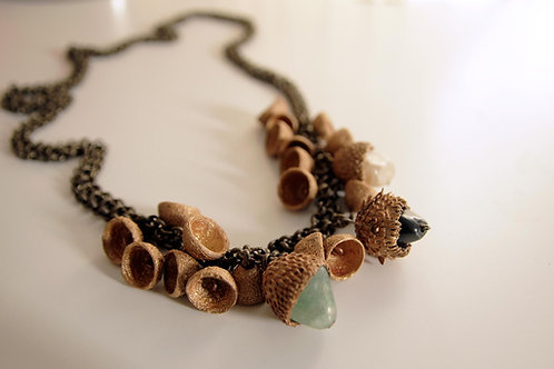Multi Acorn Necklace, One of a Kind Necklace