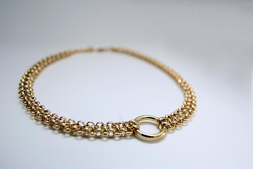 Gold O-Ring Choker