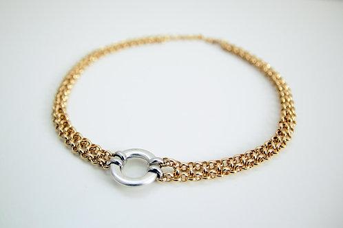 Gold and Silver O-Ring choker