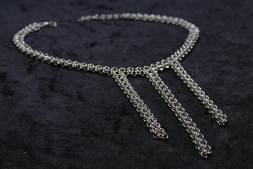 Cascading silver Chain choker Necklace | impulsiva Jewelry