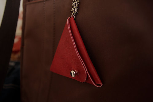 Leather coin wallet with key chain | Impulsiva jewelry
