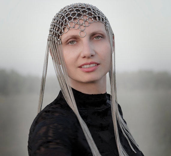 Chain mail Headpiece inspired by Mad Max, Ready to Ship