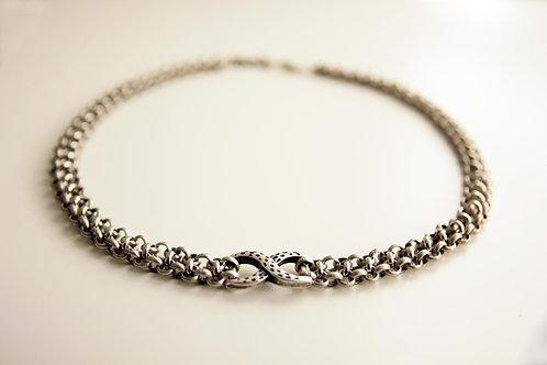 Silver Infinity Chain Choker | Impulsiva Jewelry