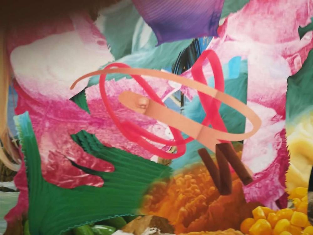 צילום עבודה של ג'ף קונס מתוך התערוכה