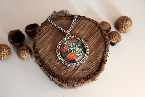 "Photo Pendant Necklace ""Ecological Fantasy"""