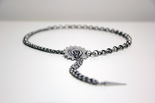 Lariat Gear Choker Necklace with Spike