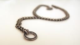Silver O-RING Choker Collar Necklace for Men & Women