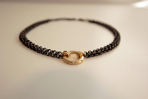 Gold and Brass O-Ring choker