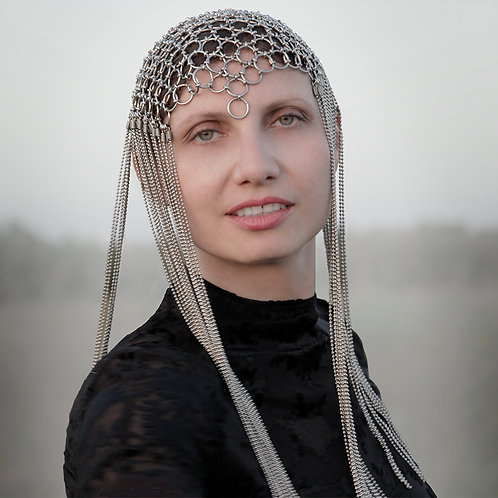 Chain mail Headpiece inspired by Mad Max, Ready to Ship | Impulsiva Jewelry